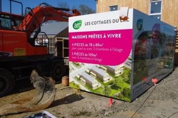 Habillage-Algeco-Cottages-du-lac-Coueron