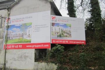 Panneau de chantier 18 et 12m² CIF Nantes