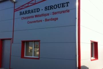 enseigne lettres découpées laquées Barraud Sirouet