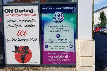 impression numérique vitrophanie Tadam Escape Carquefou - Loire Atlantique