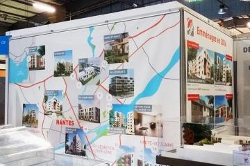 Toile M1 imprimée pour le Salon de l'Habitat de Nantes
