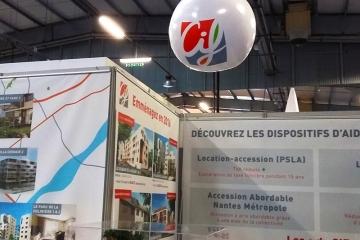Bulle gonflable CIF pour le salon de l'habitat à Nantes